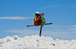 να κάνει σκι ελεύθερης κ Στοκ Εικόνα