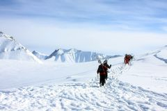 Να κάνει σκι θέρετρο Gudauri στη Γεωργία, Καύκασος Montains Στοκ Εικόνες