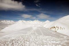Να κάνει σκι θέρετρο Gudauri στη Γεωργία, Καύκασος Montains Στοκ Φωτογραφίες