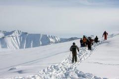 Να κάνει σκι θέρετρο Gudauri στη Γεωργία, Καύκασος Montains Στοκ εικόνες με δικαίωμα ελεύθερης χρήσης