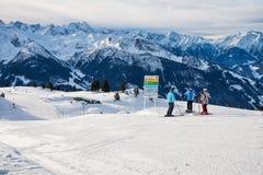 Να κάνει σκι διαδρομή στις Άλπεις, Αυστρία Στοκ φωτογραφίες με δικαίωμα ελεύθερης χρήσης