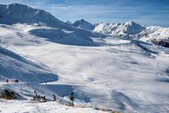 Να κάνει σκι διαδρομή στις Άλπεις, Ελβετία Στοκ φωτογραφία με δικαίωμα ελεύθερης χρήσης