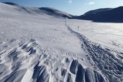 Να κάνει σκι διαδρομή στο Kungsleden Στοκ Εικόνες