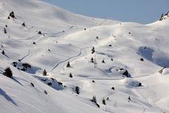 Να κάνει σκι κλίσεις, μεγαλοπρεπές αλπικό τοπίο Στοκ Φωτογραφίες