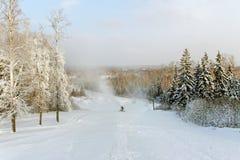 Να κάνει σκι λόφος. Στοκ εικόνες με δικαίωμα ελεύθερης χρήσης