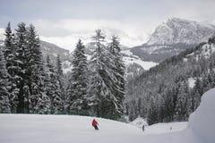 Να κάνει σκι δολομιτών θέρετρο Χειμώνας Στοκ Φωτογραφίες