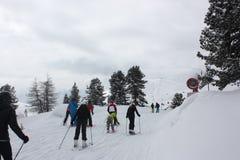 Να κάνει σκι δολομιτών θέρετρο Στοκ φωτογραφία με δικαίωμα ελεύθερης χρήσης