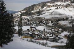 Να κάνει σκι δολομιτών θέρετρο Gardena Στοκ εικόνες με δικαίωμα ελεύθερης χρήσης