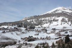 Να κάνει σκι δολομιτών θέρετρο Gardena Στοκ Εικόνα