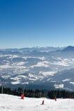 Να κάνει σκι πάρκο Kubinska Hola, προορισμός ταξιδιού για τις χειμερινές διακοπές Στοκ Φωτογραφία
