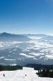 Να κάνει σκι πάρκο Kubinska Hola, προορισμός ταξιδιού για τις χειμερινές διακοπές Στοκ εικόνα με δικαίωμα ελεύθερης χρήσης