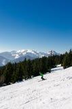 Να κάνει σκι πάρκο Kubinska Hola, προορισμός ταξιδιού για τις χειμερινές διακοπές Στοκ Φωτογραφίες