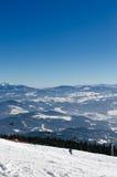 Να κάνει σκι πάρκο Kubinska Hola, προορισμός ταξιδιού για τις χειμερινές διακοπές Στοκ Εικόνες