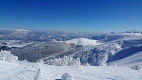 Να κάνει σκι σκηνή Στοκ Φωτογραφία