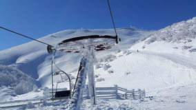 Να κάνει σκι σκηνή Στοκ Φωτογραφίες