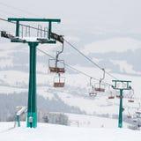 να κάνει σκι σκι ανελκυ&sig Στοκ Εικόνες