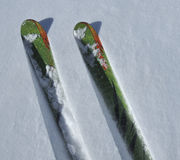 να κάνει σκι σκονών χιόνι στοκ εικόνες