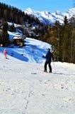 Να κάνει σκι στις ελβετικές Άλπεις Στοκ Φωτογραφίες