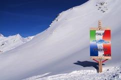 Να κάνει σκι στο Λα Thuile Ιταλία Στοκ φωτογραφίες με δικαίωμα ελεύθερης χρήσης