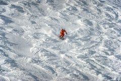 Να κάνει σκι στο χιονοδρομικό κέντρο Solden Αυστρία βουνών στοκ εικόνα