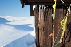 Να κάνει σκι στο Kungsleden στοκ φωτογραφία