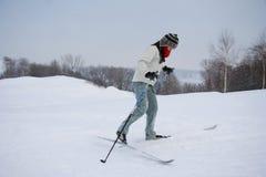 να κάνει σκι του Κεμπέκ πό&lambda Στοκ Φωτογραφίες