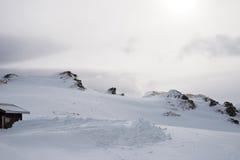 Να κάνει σκι χιονιού διαδρομές στην περιοχή του Portes-du-Soleil Στοκ φωτογραφία με δικαίωμα ελεύθερης χρήσης