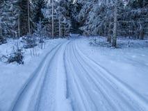 να κάνει σκι χωρών διαδρομή Στοκ Φωτογραφίες