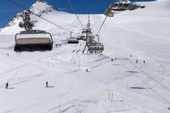 Να κάνει σκι Matterhorn περιοχή στοκ εικόνα