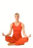 να κάνει τη γιόγκα γυναικών άσκησης Στοκ εικόνα με δικαίωμα ελεύθερης χρήσης
