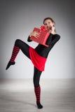 να κάνει τη γυμναστική κορ Στοκ Εικόνα