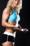 να κάνει τη γυναίκα άσκηση&sig Στοκ Φωτογραφίες