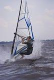 να κάνει το τέχνασμα windsurfer Στοκ Εικόνες