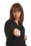 να κάνει karate τη γυναίκα Στοκ φωτογραφία με δικαίωμα ελεύθερης χρήσης