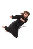 να κάνει karate τη γυναίκα Στοκ Εικόνες