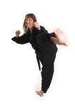 να κάνει karate τη γυναίκα Στοκ εικόνα με δικαίωμα ελεύθερης χρήσης