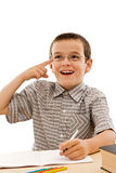 να κάνει schoolboy εργασίας του στοκ φωτογραφία με δικαίωμα ελεύθερης χρήσης