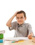 να κάνει schoolboy εργασίας του στοκ εικόνες με δικαίωμα ελεύθερης χρήσης