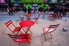 Να καθίσει της Times Square Στοκ Εικόνα