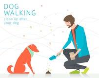 Να καθαρίσει μετά από το σκυλί διανυσματική απεικόνιση