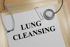 Να καθαρίσει πνευμόνων - ιατρική έννοια Στοκ φωτογραφία με δικαίωμα ελεύθερης χρήσης