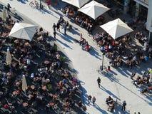 Να καταψύξει στον ήλιο στην εναέρια άποψη πτώσης Στοκ φωτογραφίες με δικαίωμα ελεύθερης χρήσης