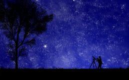 να κοιτάξει αστέρι Στοκ Φωτογραφία