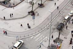 Πανοραμική θέα της πόλης της Φρανκφούρτης στοκ φωτογραφία με δικαίωμα ελεύθερης χρήσης
