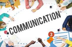 Να κουβεντιάσει μηνύματος επικοινωνίας στιγμιαία έννοια ομιλίας Στοκ Εικόνες