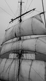 Να κυματίσει από υψηλά σε ένα tallship ή sailboat Στοκ Φωτογραφίες