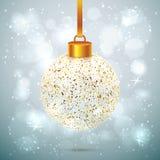 Να λάμψει λαμπίρισε σφαίρα Χριστουγέννων Στοκ φωτογραφίες με δικαίωμα ελεύθερης χρήσης