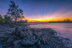 Να λάμψει μετά από το ηλιοβασίλεμα στις υπο--περιοχές sekupang στοκ εικόνα με δικαίωμα ελεύθερης χρήσης