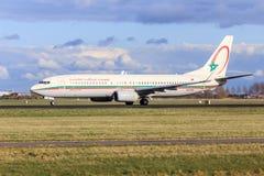 Να μετακινηθεί με ταξί αεροσκαφών της Royal Air Maroc Στοκ φωτογραφία με δικαίωμα ελεύθερης χρήσης