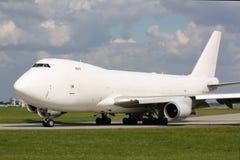 Άσπρο αεροπλάνο Στοκ Εικόνα